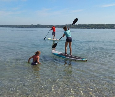 Un peu de paddle