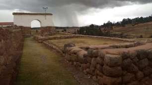 Site de Chinchero, juste avant l'orage de grêle