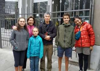 Avec Takeshi et Saraya, japonais rencontrés initialement à l'Estrellita à Cuzco