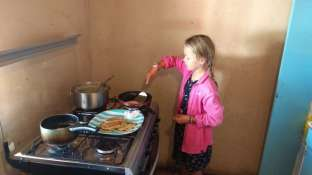 Entraînement aussi pour Diane, pancakes...