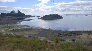 La petite presqu'île en face de la ferme de woofing