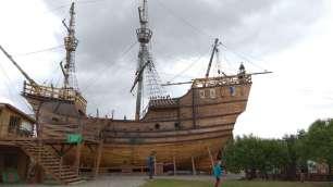 Visite de la reconstitution du bateau de Magellan