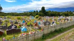 Un cimetière particulièrement coloré