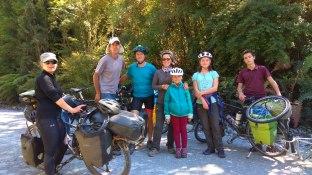 Avec David et Andrea dans le parc Pumalin