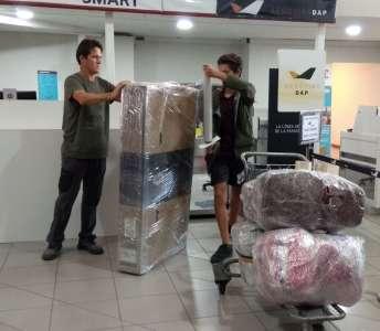 Nous avons bien progressé sur le travail en équipe pour les situations de transport : démontage, remontage, emballage, déplacements. On devient des chefs !
