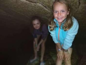 Dans une grotte, des milliers de vers luisants et deux puces