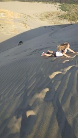 Les dunes de sable de Cape Reinga