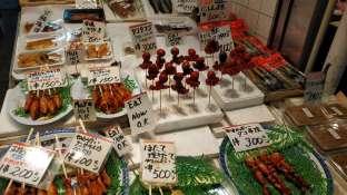 Dans le marché couvert de Nishiki à Kyoto