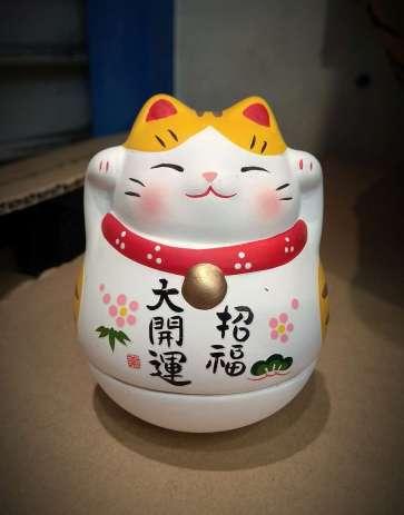 Ici un manuki-neko, chat porte bonheur