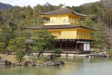 Comme l'étonnant pavillon d'or (Kinkaku-ji)