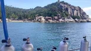 Nous avons plongé à Three Rocks Bay