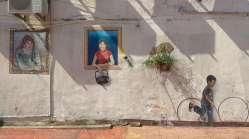 Comme dans beaucoup de villes en Malaisie, les murs sont souvent décorés d'oeuvres de street-art