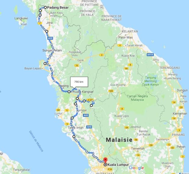 Carte Malaisie 1