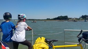 Traversée en bac pour rejoindre la presque-île de Sarzeau